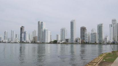Vista panorámica de un sector de Cartagena.