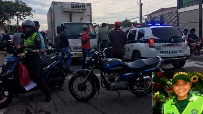 En video   Muere patrullera barranquillera en accidente de tránsito en Cartagena