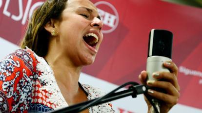 La cantante porteña Maía durante su participación en #SesionesEH de EL HERALDO.
