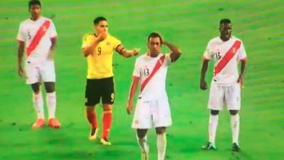 Momento en el que se supone que Falcao García pacta el empate.