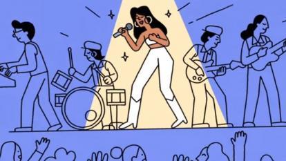 Google homenajea a Selena con doodle musical