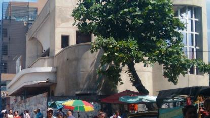 Fachada del teatro de Santa Marta.