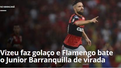 Portada del diario 'O Dia' de Brasil en el triunfo de Flamengo ante Junior