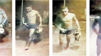 El supuesto ladrón 'encuero' quedó registrado en un video de una cámara de seguridad el pasado 15 de noviembre.