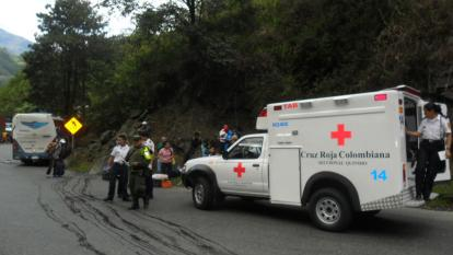 Alto de La Línea donde se registró el fatal accidente de tránsito.