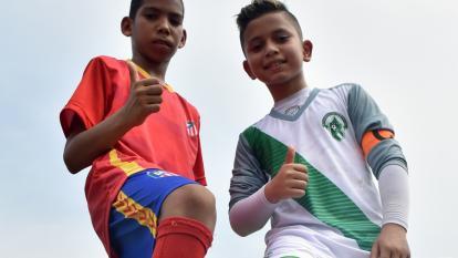Edgardo Charris e Iker Mendoza.