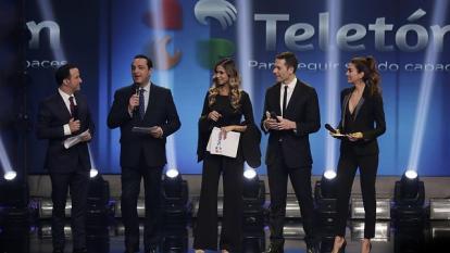 Presentadores de la Teletón.