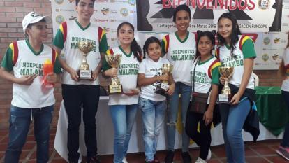 Los ajedrecistas que representarán a Malambo en las finales que se disputarán en Cali.