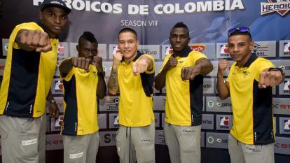 Deivis Julio, Yuberjen Martínez, John Lennon, Jorge Luis Vivas y Jhon Martínez.