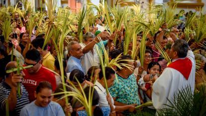 Familias celebraron el Domingo de Ramos