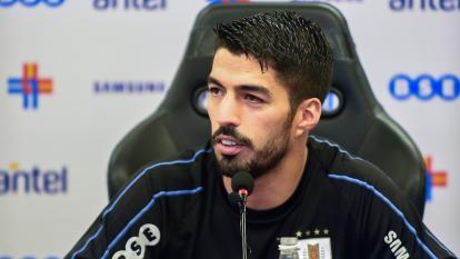 Luis Suárez, delantero de la selección uruguaya.