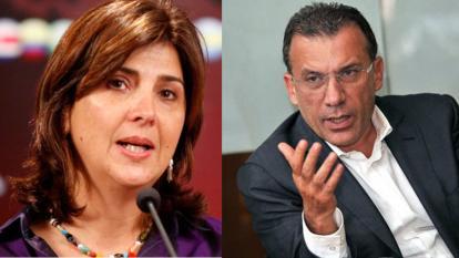 María Ángela Holguín y Roy Barreras.