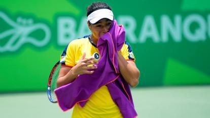 María Fernanda Herazo durante el juego.