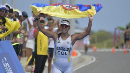 La colombiana Diana Castillo, bronce en triatlón
