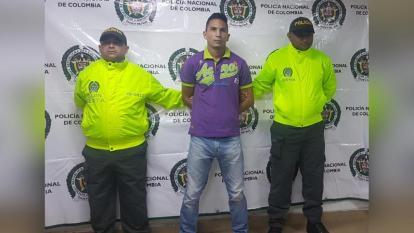 Jhon Fredy Reyes Gutiérrez, capturado.