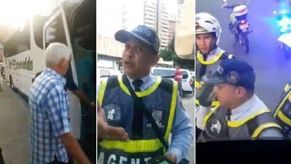 El agente de tránsito que le hizo 'marcación estricta' al Junior