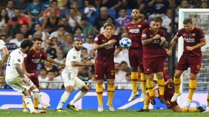 El Real Madrid vence a la Roma en su inicio en Champions