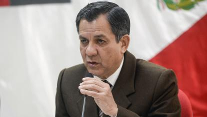 Mauro Medina, ministro del Interior de Perú.