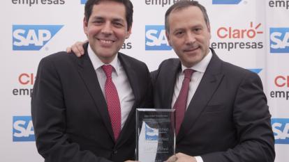 Guillermo BrinkmannPresidente de SAP para la región norte de América Latina y   Carlos Zenteno Presidente de Claro Colombia