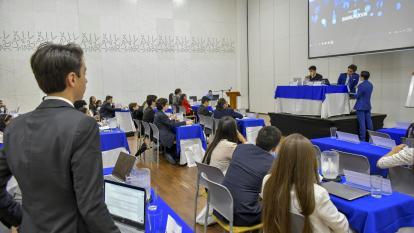 Estudiantes de cuarto de primaria hasta undécimo de bachillerato participan del Bamun.
