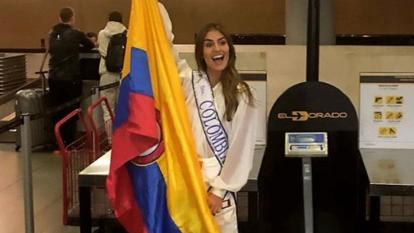 """Valeria Morales, Miss Colombia 2018, partió """"rumbo a Miss Universo"""""""
