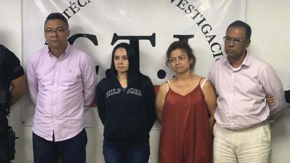 Correa Olaya, De la Hoz Peña, Galezzo Bolívar, Torres Narváez, asegurados.