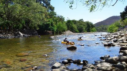 Trayecto del río Guatapurí en Valledupar.