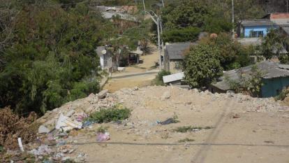 En este lugar del barrio Nueva Colombia donde fue asesinado Anderson Púa G.