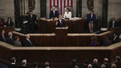 Donald Trump habla ante el Congreso de Estados Unidos.