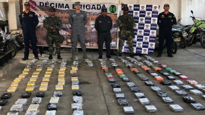 Incautan 117 kilos de coca y 26 kilos de marihuana en una ranchería en la Alta Guajira