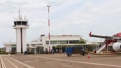 El aeropuerto Almirante Padilla de Riohacha.