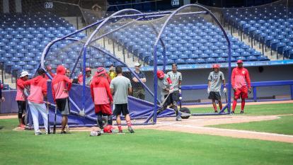 El campamento de los Rojos cumplió ayer su segundo día en Barranquilla.