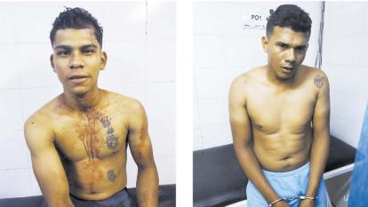 Deivis Rafael y Heider Salcedo Mendoza, capturados.