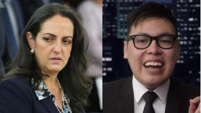 María Fernanda Cabal llama 'ballena' al youtuber Wally