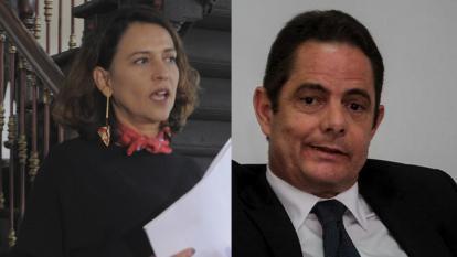 Nancy Gutiérrez, mininterior, y Germán Vargas Lleras, líoder de Cambio Radicasl.