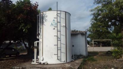 Planta de tratamiento compacta de Mariangola, en Valledupra, que nunca ha funcionado según la Contraloría.