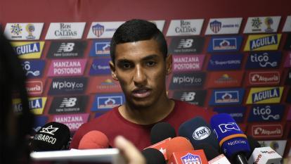 Gabriel Fuentes durante en la rueda de prensa de ayer.