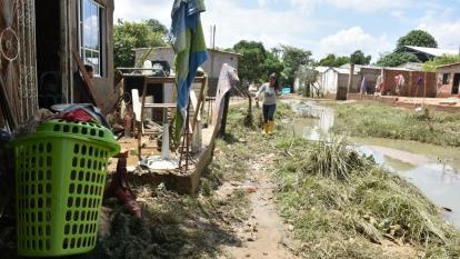 Lluvias en Riohacha dejan 677 viviendas averiadas