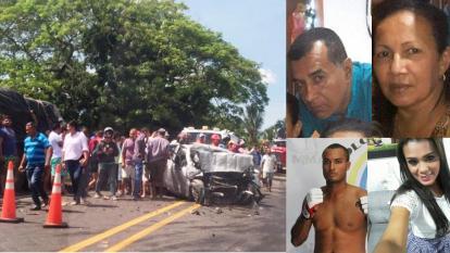 Cinco personas mueren en accidente en vías de Córdoba
