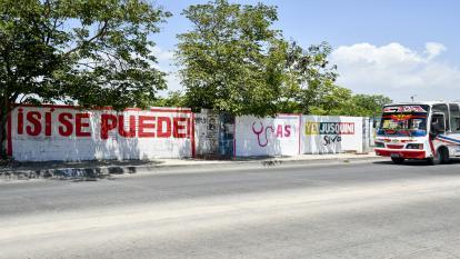 Propaganda política en Soledad, Atlántico.