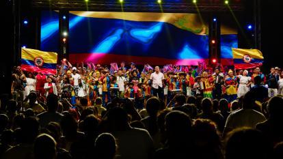 Presentación de la Banda de Baranoa durante el 20 de julio.