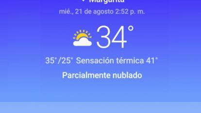 La Costa en breves | Sensación térmica de 41 grados en Margarita (Bolívar) y con apagones