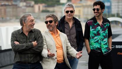 Luis Brandoni, Ricardo Darín, el director Sebastián Borensztein y Chino Darín.