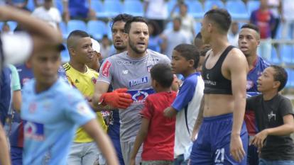 El cruce de palabras entre Sebastián Viera y Ricardo Márquez.