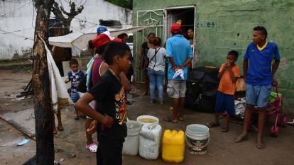 La vivienda ubicada en el barrio Ciudad Paraíso de Soledad, donde estaban de visita la mujer y sus hijos.