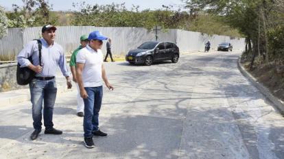 Steimer Mantilla en una de sus actividades como alcalde de Puerto Colombia.