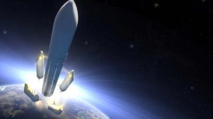 Representación de la futura lanzadera Ariane 6.