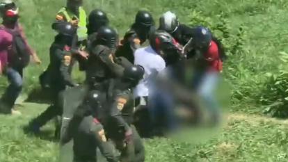 En video | Herido de gravedad policía durante manifestaciones en Neiva