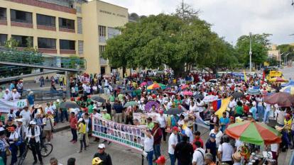 En video | En Barranquilla baja el número de marchistas