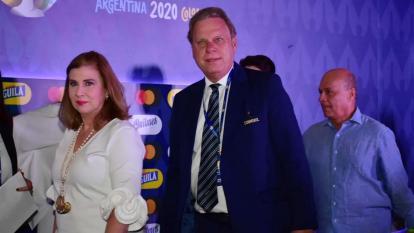 Ramón Jesurun a su llegada al sorteo en Cartagena.